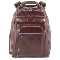 "Piquadro Blue Square Computer Backpack 14.1"" Mahogany"