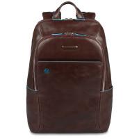 "Piquadro Blue Square Computer Backpack 14"" Mahogany"