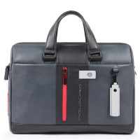 Piquadro Urban Laptop Briefcase 15.6'' Black/Grey
