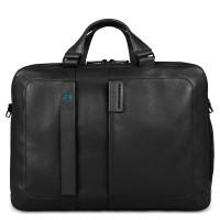 "Piquadro Pulse Two-handled Computer Bag 15.6"" Black"
