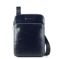 Piquadro Blue Square Crossbody Bag iPad Air/Pro 9.7'' Black