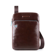 Piquadro Blue Square Crossbody Bag iPad Air/Pro 9.7'' Mahogany