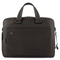 "Piquadro Black Square Briefcase 15"" Dark Bown"