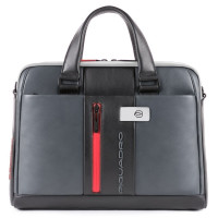Piquadro Urban Slim Portfolio Computer Briefcase 14'' Grey/Black