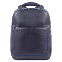 "Piquadro Blue Square S Matte Fast Check Computer 15.6"" Backpack Blue"