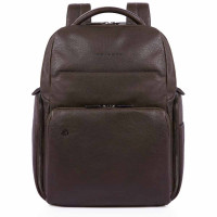 Piquadro Black Square Backpack 13'' Dark Brown