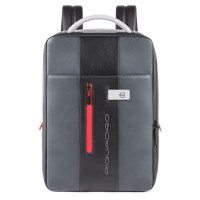 Piquadro Urban Expandable Slim Backpack 15.6'' Grey/Black