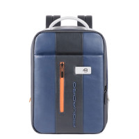Piquadro Urban Expandable Small Size Slim Backpack 14'' Blue/Grey