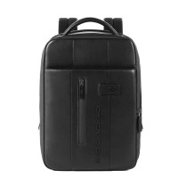 Piquadro Urban Expandable Small Size Slim Backpack 14'' Black