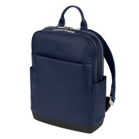 Moleskine Classic Leather Pro Backpack Sapphire Blue