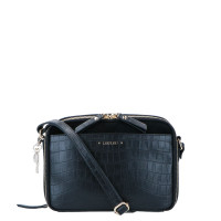 LouLou Essentiels Classy Croc Gold Crossbody Camerabag Black