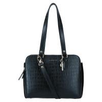 LouLou Essentiels Classy Croc Gold Handbag Black