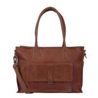 "Cowboysbag Laptop Bag Edgemore 15.6"" Schoudertas Cognac 2056"