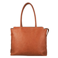 "Cowboysbag Laptop Bag Evi 15.6"" Schoudertas Cognac"
