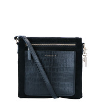 LouLou Essentiels Classy Croc Gold Crossbody Black