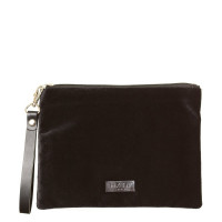 HXTN Supply Clutch Crushed Velvet Black