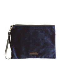 HXTN Supply Clutch Crushed Velvet Navy