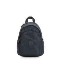 Kipling Delia Mini Backpack Satin Camo Blue