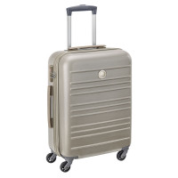 Delsey Carlit 4 Wheel Trolley Cabin Slim 55 Brushed Gold