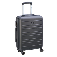 Delsey Carlit 4 Wheel Trolley Cabin Slim 55 Brushed Silver