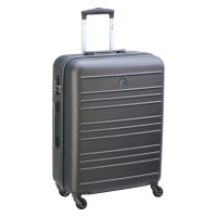 Delsey Carlit 4 Wheel Trolley 66 Brushed Silver