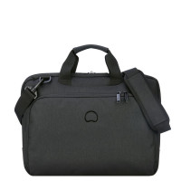 "Delsey Esplanade Laptop Bag 1-CPT 15.6"" Deep Black"