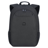 "Delsey Esplanade Laptop Backpack 17.3"" Deep Black"