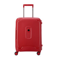 Delsey Moncey 4 Wheel Slim Cabin Trolley 55 Star Red