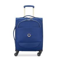 Delsey Montrouge Slim Cabin Trolley Case 4 Wheel 55 Expandable Blue