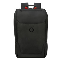 "Delsey Parvis Plus Backpack 1-CPT 15.6"" Black"