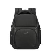 Delsey Quarterback Premium 2-CPT Backpack Small 13.3'' Expandable Black
