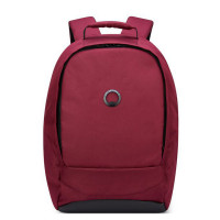 "Delsey Securban 1-Compartment Laptop Backpack 13.3"" Burgundy"