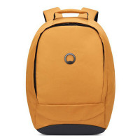 "Delsey Securban 1-Compartment Laptop Backpack 13.3"" Brown/ Yellow"