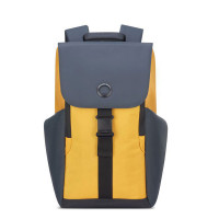 "Delsey Securflap 1-Compartment Laptop Backpack 15"" Yellow"
