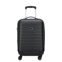 Delsey Segur Cabin Trolley Business Case 4 Wheel 55 Expandable Black
