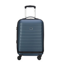 Delsey Segur Cabin Trolley Business Case 4 Wheel 55 Expandable Blue