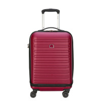 Delsey Segur Cabin Trolley Business Case 4 Wheel 55 Expandable Red