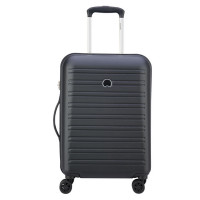 Delsey Segur Cabin Trolley Case 4 Wheel Slim 55 Black