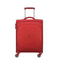 Delsey U-Lite Classic 2 Slim Cabin Trolley Case 4 Wheel 55 Red