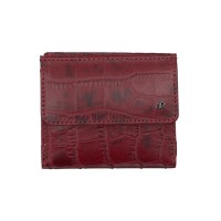 dR Amsterdam Croco Billfold Red 24535