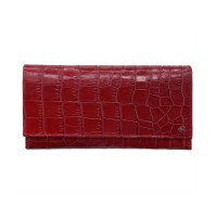 dR Amsterdam Croco Damesportemonnee Red 24139