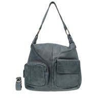 DSTRCT Stonehill Road Hobo Bag Two Pocket Jeans Blue