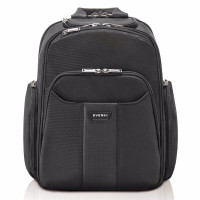 "Everki Versa 2 Premium Laptop Backpack 15"" Travel Friendly Black"