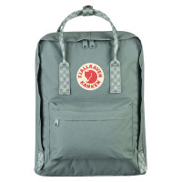 FjallRaven Kanken Rugzak Frost Green/Chess Pattern