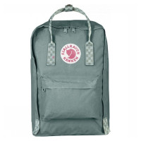 "FjallRaven Kanken Laptop 15"" Rugzak Frost Green/ Chess Patern"