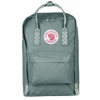 "FjallRaven Kanken Laptop 17"" Rugzak Frost Green/ Chess Patern"