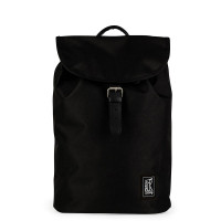 The Pack Society The Small Backpack Recycled Fabric Black