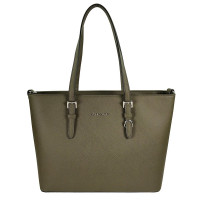 Flora & Co Shoulder Bag Saffiano Khaki Green