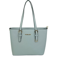 Flora & Co Shoulder Bag Saffiano Light Blue