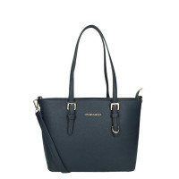 Flora & Co Shoulder Bag Saffiano Small Blue